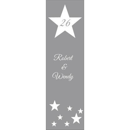 Raamfolie sterren met huisnummer en naam