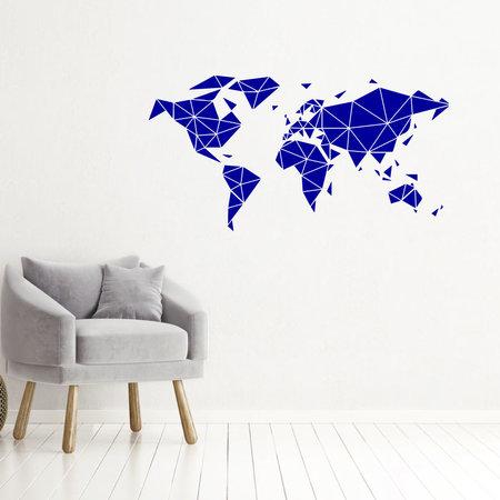 Muursticker Wereldkaart