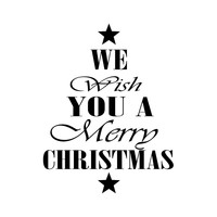 We wish you a merry christmas sticker