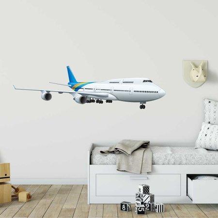Muursticker vliegtuig op grond