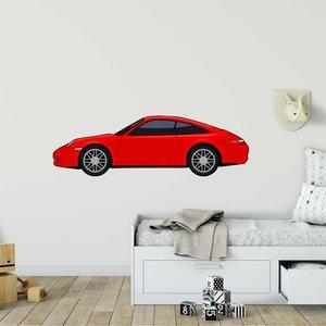 Muursticker Sportwagen rood