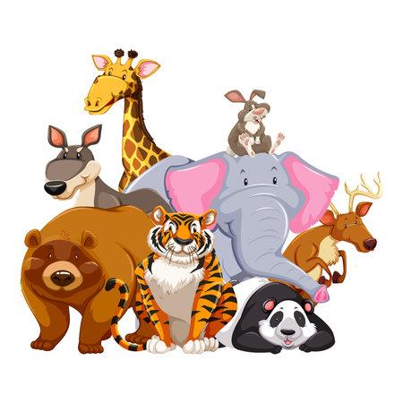 Muursticker familie dieren