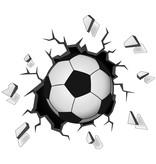 Muursticker voetbal in muur