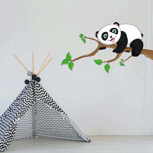 Muursticker Pandabeer op tak