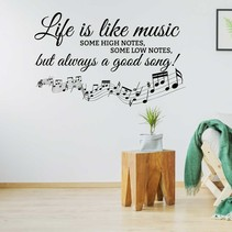 Muursticker life is like music