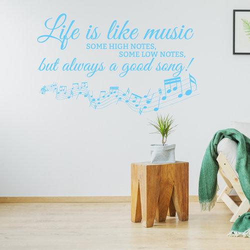 Muursticker life is like music