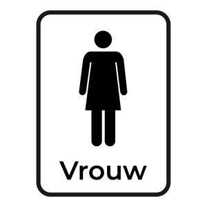 Bewegwijzering sticker Toilet vrouw
