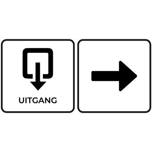 Bewegwijzering sticker uitgang met pijl(Ontwerp zelf)