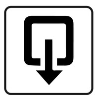 Bewegwijzering sticker uitgang