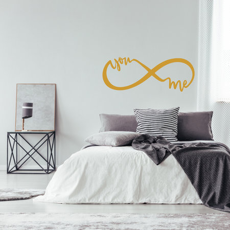 Muursticker infinity you and me