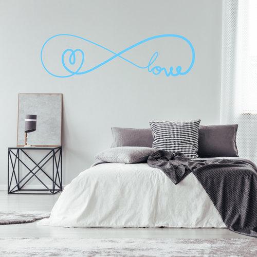 Muursticker infinity love met hartje