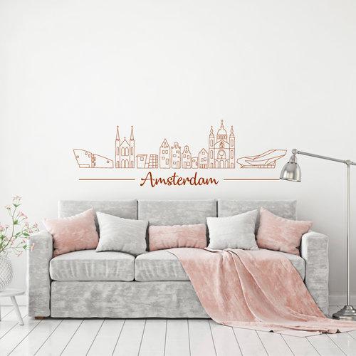 Muursticker Amsterdam