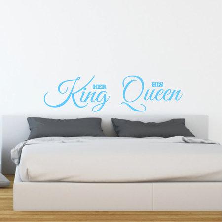 Muursticker Her King - His Queen
