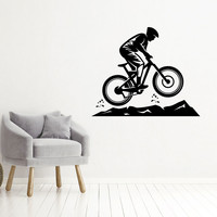 Muursticker Mountainbike