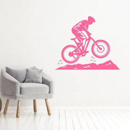 Muursticker Mountainbike