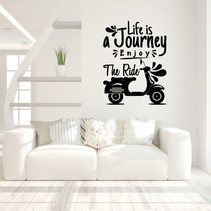 Muursticker Life is a journey enjoy the ride