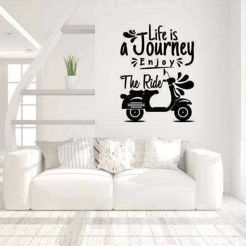 Muursticker Life is a journey enjoy the ride
