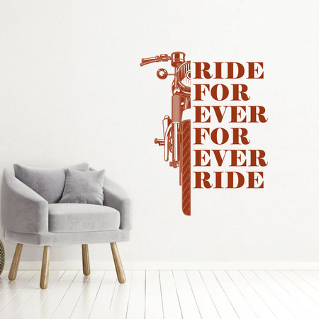 Muursticker Ride for ever for ever ride