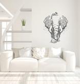 Muursticker olifant in bomen