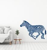 Muursticker kleine en grote zebra