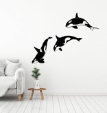 Muursticker orka's