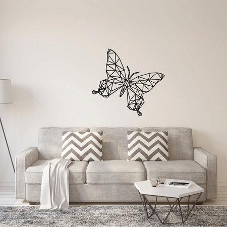 Muursticker origami vlinder