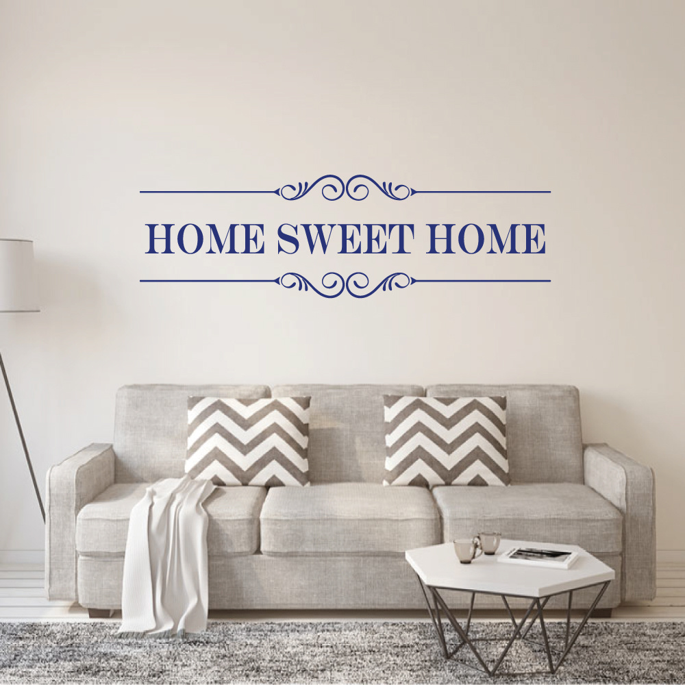 Muursticker Home Sweet Home.Muursticker Home Sweet Home