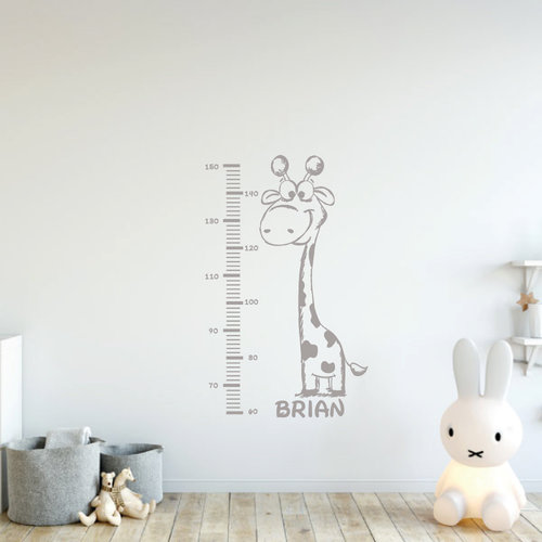 Muursticker giraffe met groeimeter