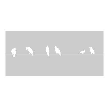 Raamfolie vogels op lijn