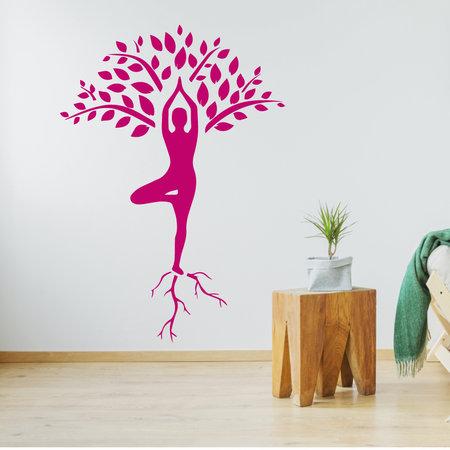 Muursticker Yoga boom