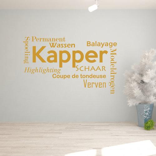 Muursticker Kapper