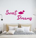 Muursticker Sweet dreams met wolkjes