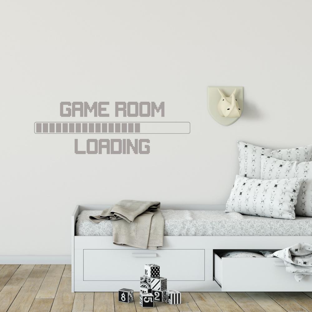 Muursticker Game room loading -   baby en kinderkamer  engelse teksten