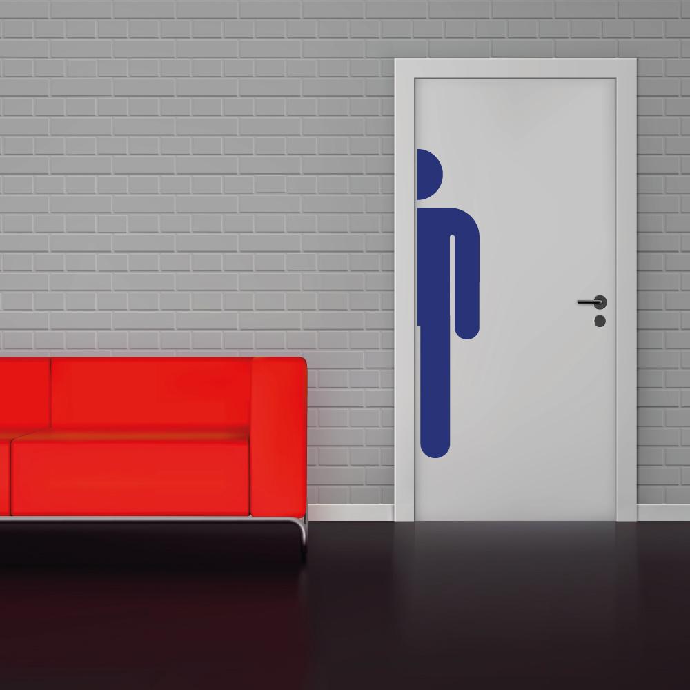 Toilet sticker mannen wc -   toilet raam en deur stickers - toilet