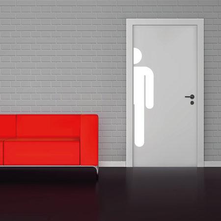Toilet sticker mannen wc