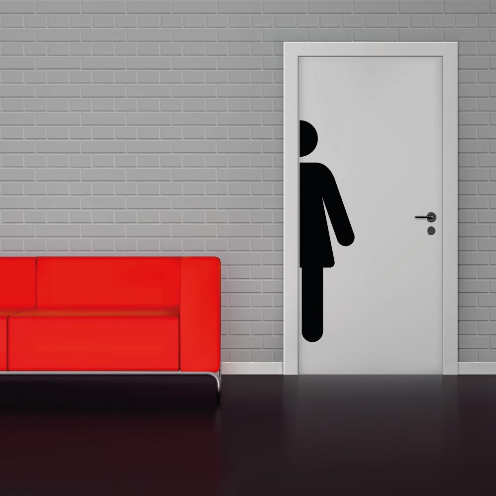 Toilet sticker vrouwen wc -   toilet raam en deur stickers - toilet