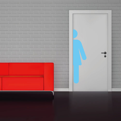 Toilet sticker vrouwen wc