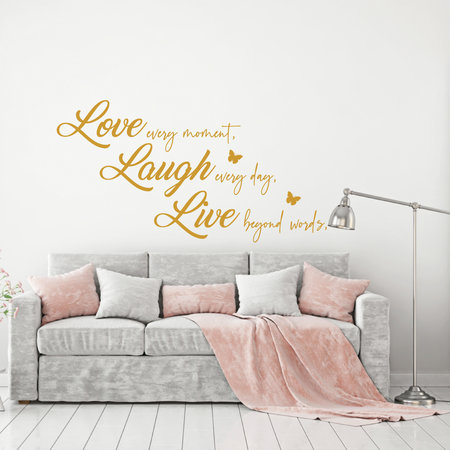 Muursticker Love laugh live