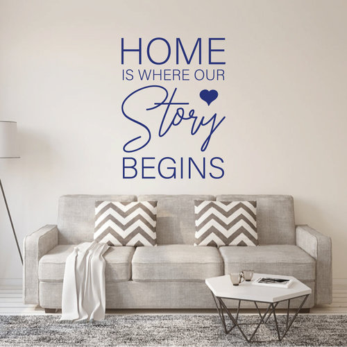 Muursticker Home is where our story begins