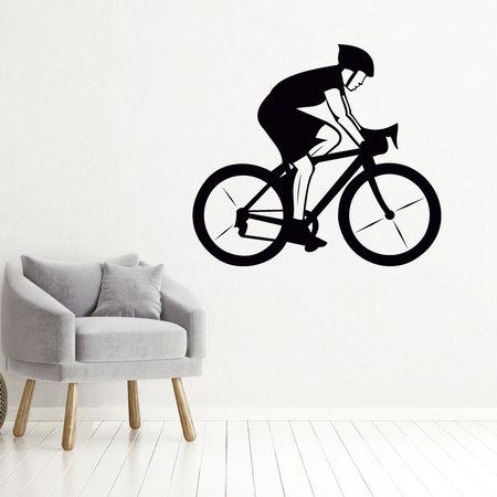 Muursticker wielrenner