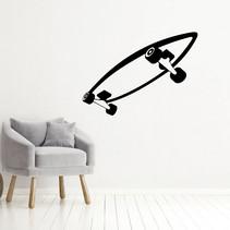 Muursticker Skateboard