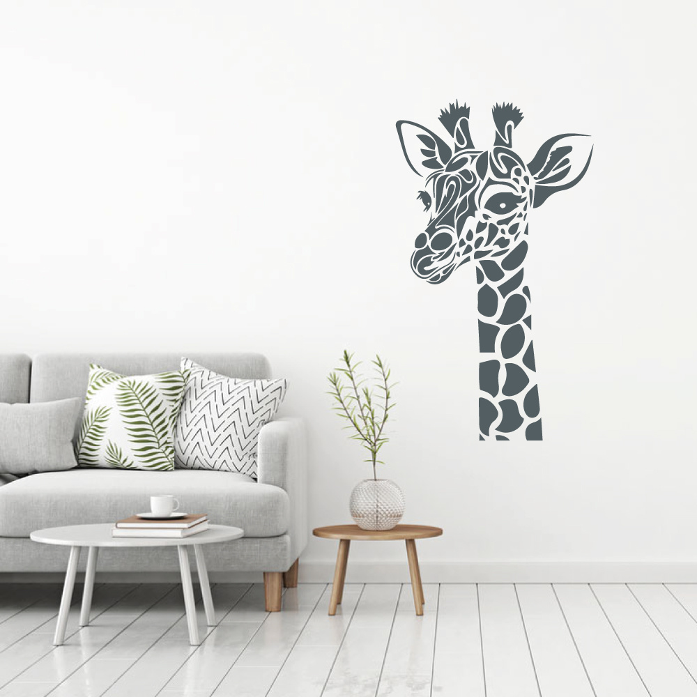 Muursticker giraffe -   baby en kinderkamer  woonkamer  dieren