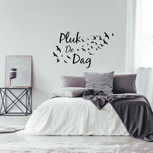 Muursticker plug de dag met vogels