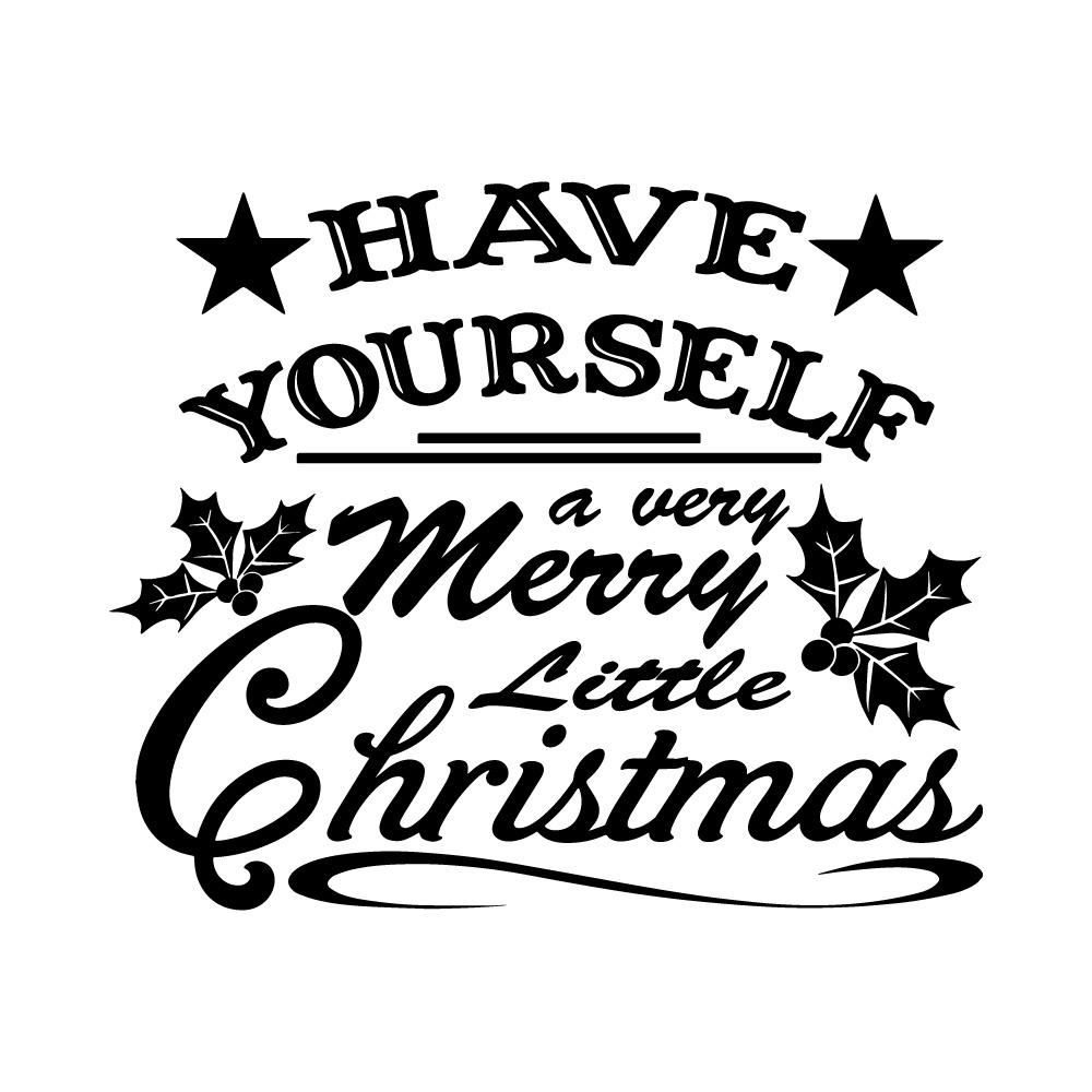 Sticker A very merry little christmas
