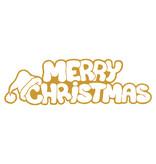 Sticker Merry christmas met kerstmuts