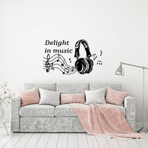 Muursticker Delight in music
