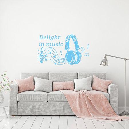 Muursticker Delight in music