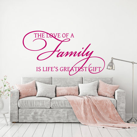 Muursticker the love of a family is life's greatest gift