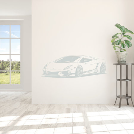 muursticker Lamborghini