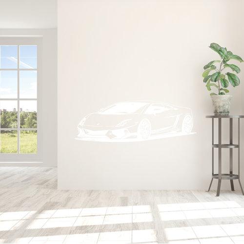 muursticker Sportcar